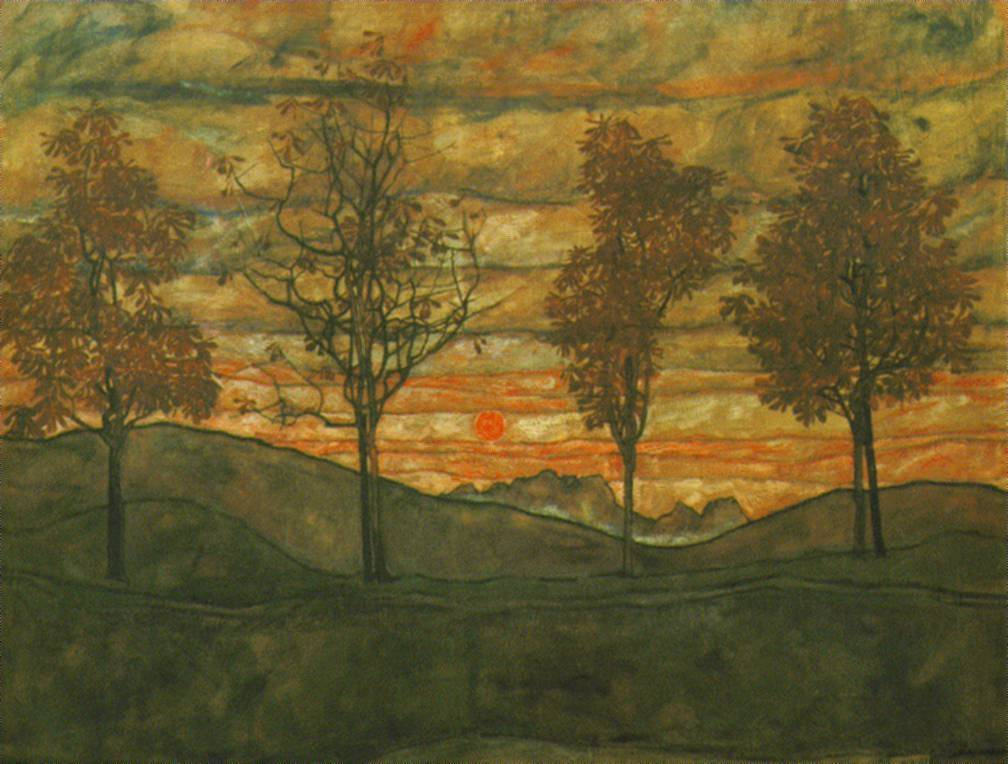 SCHIELE, Four trees, 1917
