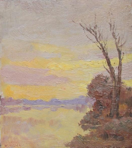 Claude Monet Landscape study -Tramonto sulla Senna - Argenteuil