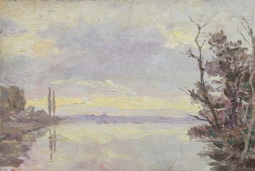 Claude Monet Landscape study - Alba, Nebbia novembrina