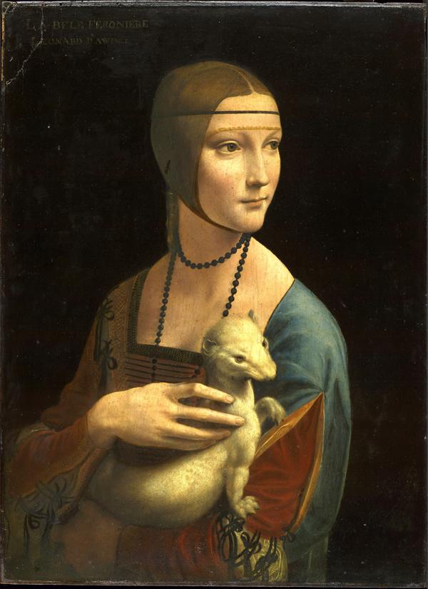 Opere di Leonardo da Vinci - Portrait of Cecilia Gallerani (Lady with the Ermine), about 1488