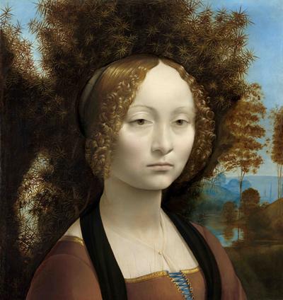 Opere di Leonardo da Vinci - Ginevra de' Benci [obverse]