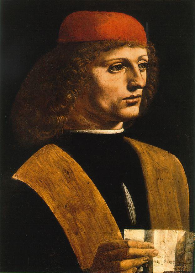 Leonardo da Vinci - Portrait of a Musician
