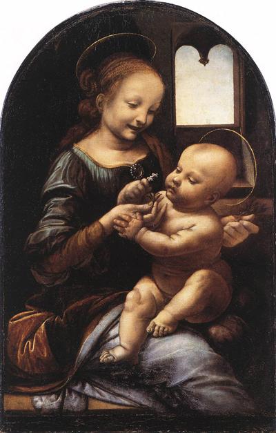 Opere di Leonardo da Vinci - Madonna Benois