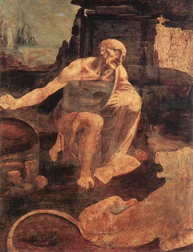 Andrea del Verrocchio e Leonardo da Vinci - San.Gerolamo penitente
