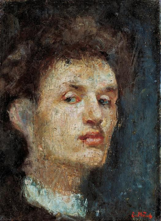 Edvard Munch Portrait Laura Munch - Selfportrait - 1886