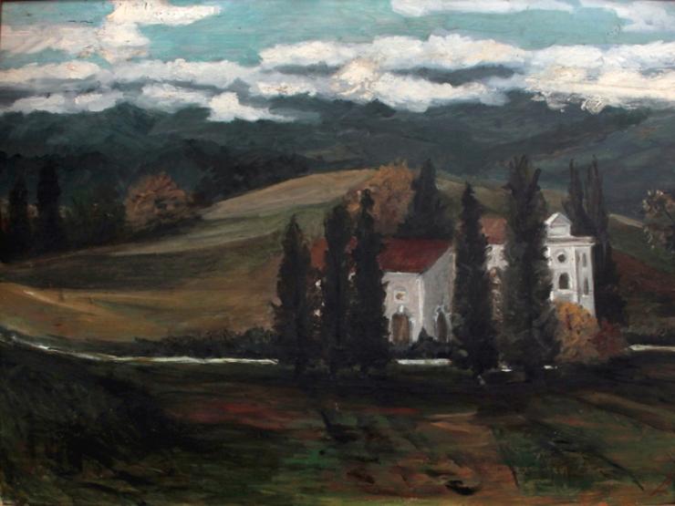 Egon Schiel. Paesaggio collinare, 1911-1912
