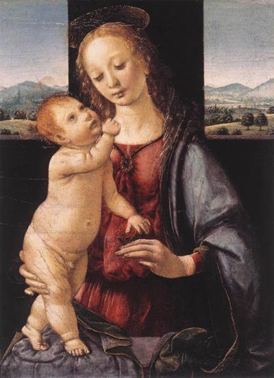 Andrea del Verrocchio - Leonard de Vinci_-_madonna_dreyfus.jpg