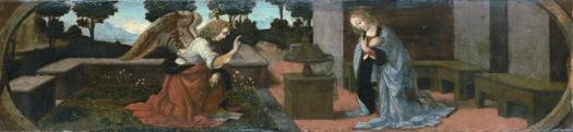 Leonard de Vinci Annunciazione 598