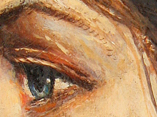 Pablo Picasso Portrait Olga Khoklova - Dettaglio occhi
