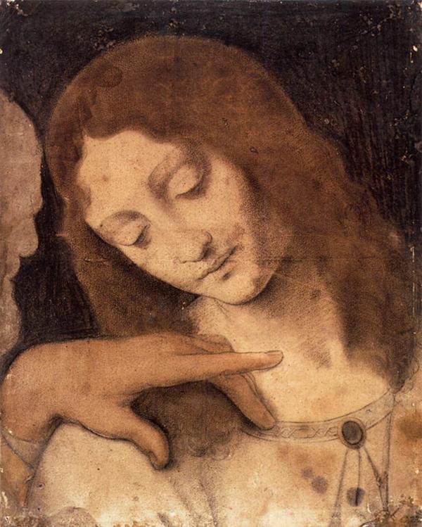 Giovanni Antonio Boltraffio, Studio apostolo Giovanni - Abbozzo