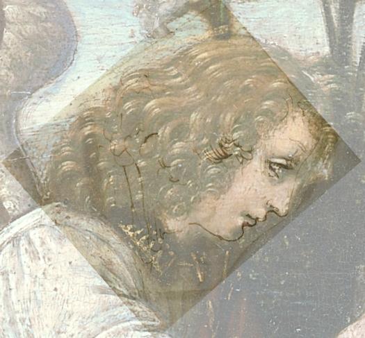 Leonard de Vinci Annunciazione 598 - Archangel Gabriel