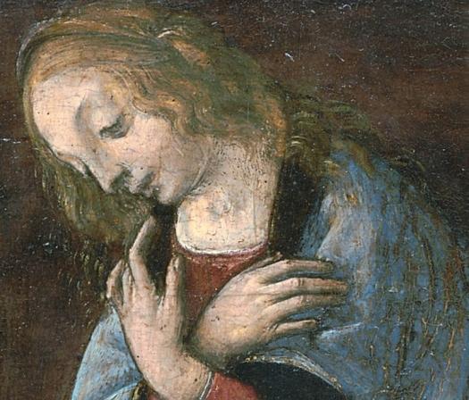Leonard de Vinci Annunciazione 598 - The virgin