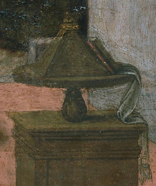 Leonardo da Vinci dettaglio Annunciazione-598-louvre-museum