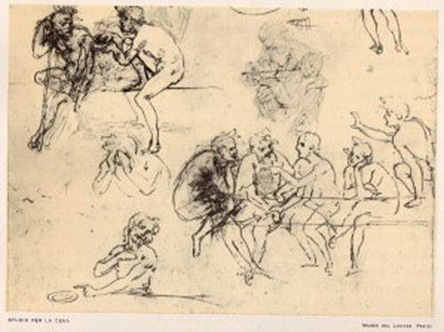 Leonardo - Prima idea per il Cenacolo