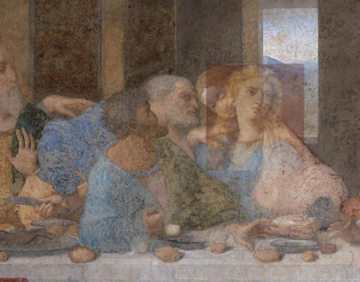 Studio preparatorio Ultima cena - apostolo Giovanni