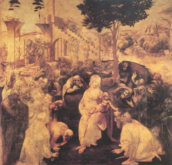 Leonardo da vinci_Adorazione dei Magi