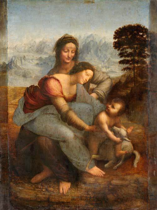 Opere diLeonardo da Vinci - Sant'Anna, la Vergine e il Bambino con l'agnellino