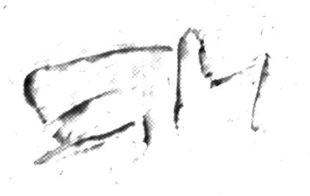 Edvard Munch, dettaglio, firma