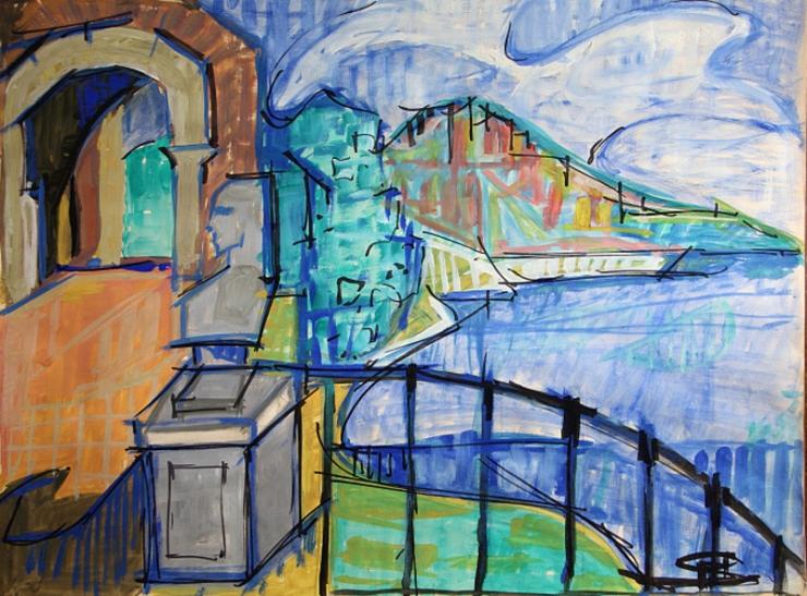 Henri Matisse - Seascape view (Saint-Tropez)