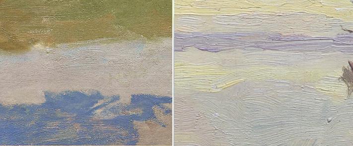 Monet - Paesaggi a confronto - Tecnica