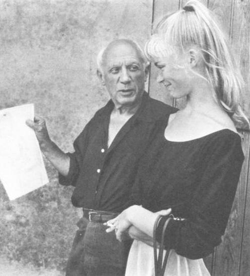 Fotografia Pablo Picasso with Sylvette David