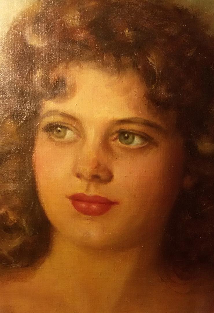 Tamara de Lempicka, Portrait of a young lady, fotografia-dettaglio