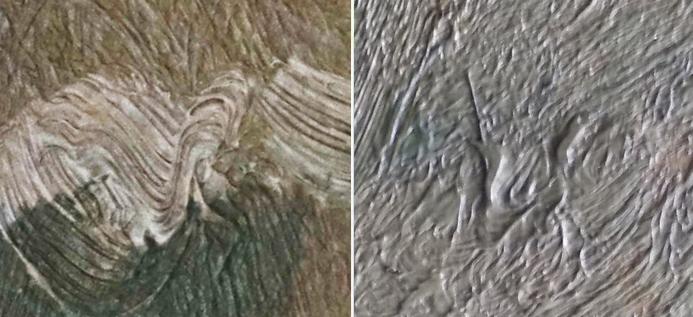 Detail, Van Gogh, rilievo, pittura, lettera V, Vincent - Landscape Provence