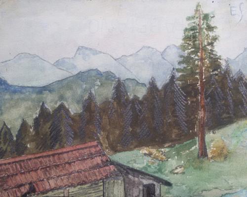 Egon Schiele Landscapes - Mountain landscape - Paesaggi dell'Anima