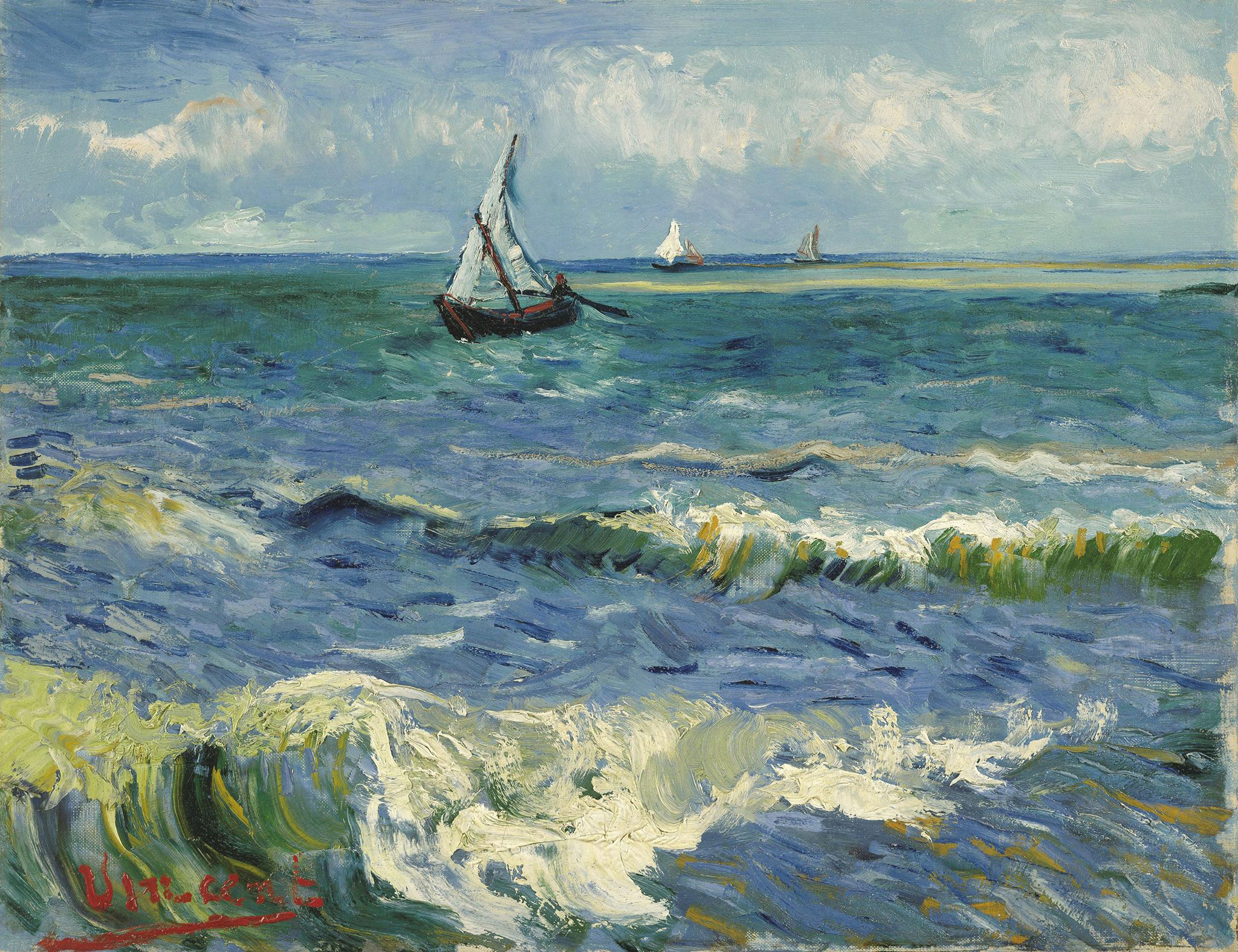 Van Gogh, Fischerboote bei Saintes Maries