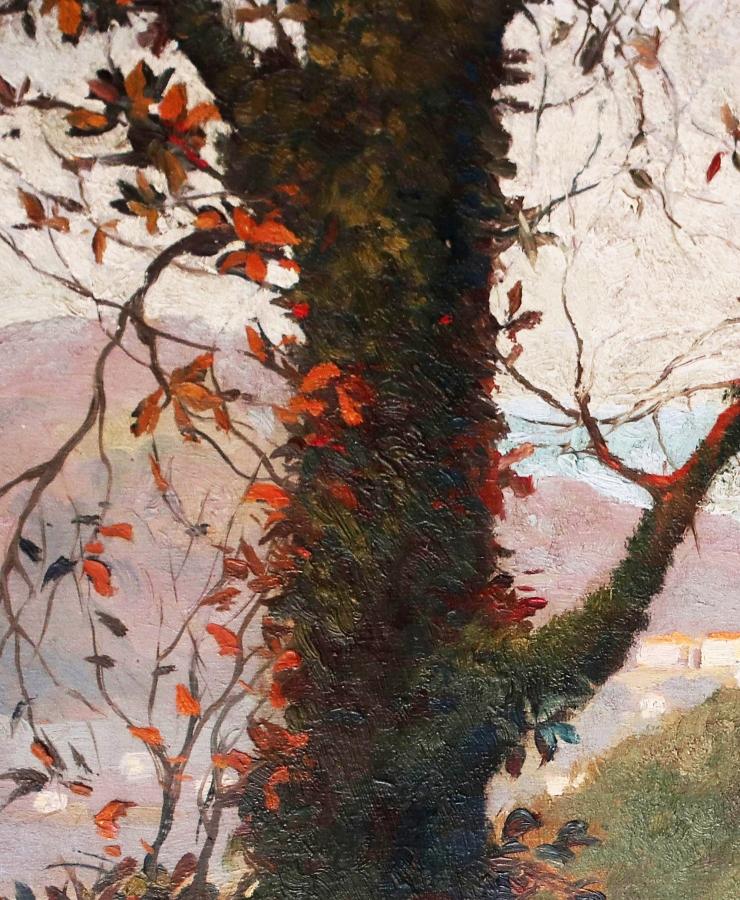 Vincent van Gogh, detail tree, Landscape Provence
