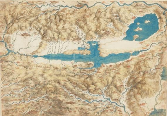 Leonardo da Vinci - Mappa della Valdichiana