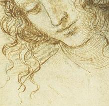 Leonardo da Vinci, La Testa di Leda, dettaglio