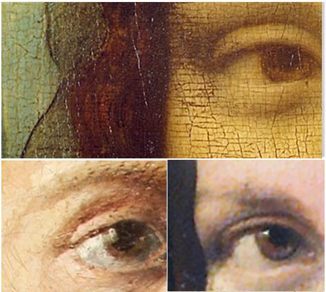 Lionardo Vinci - Occhi - Gioconda, Autoritratto, lionardo-da-vinci-studio-occhi-gioconda-autoritratto - La belle ferronnière