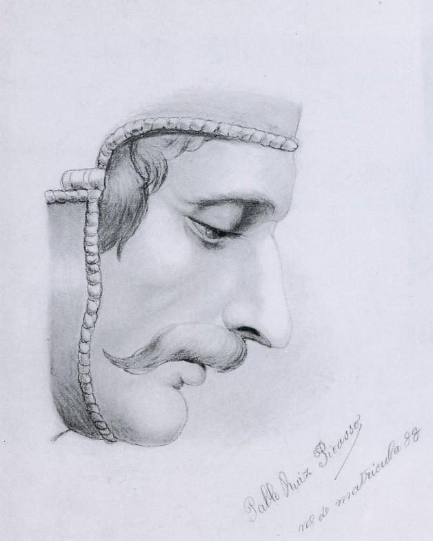 Pablo Picasso - Profil droit d'homme