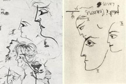 Pablo Picasso - Profili femminili