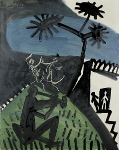 Pablo Ruiz Picasso, La danse III, Cannes, 1956