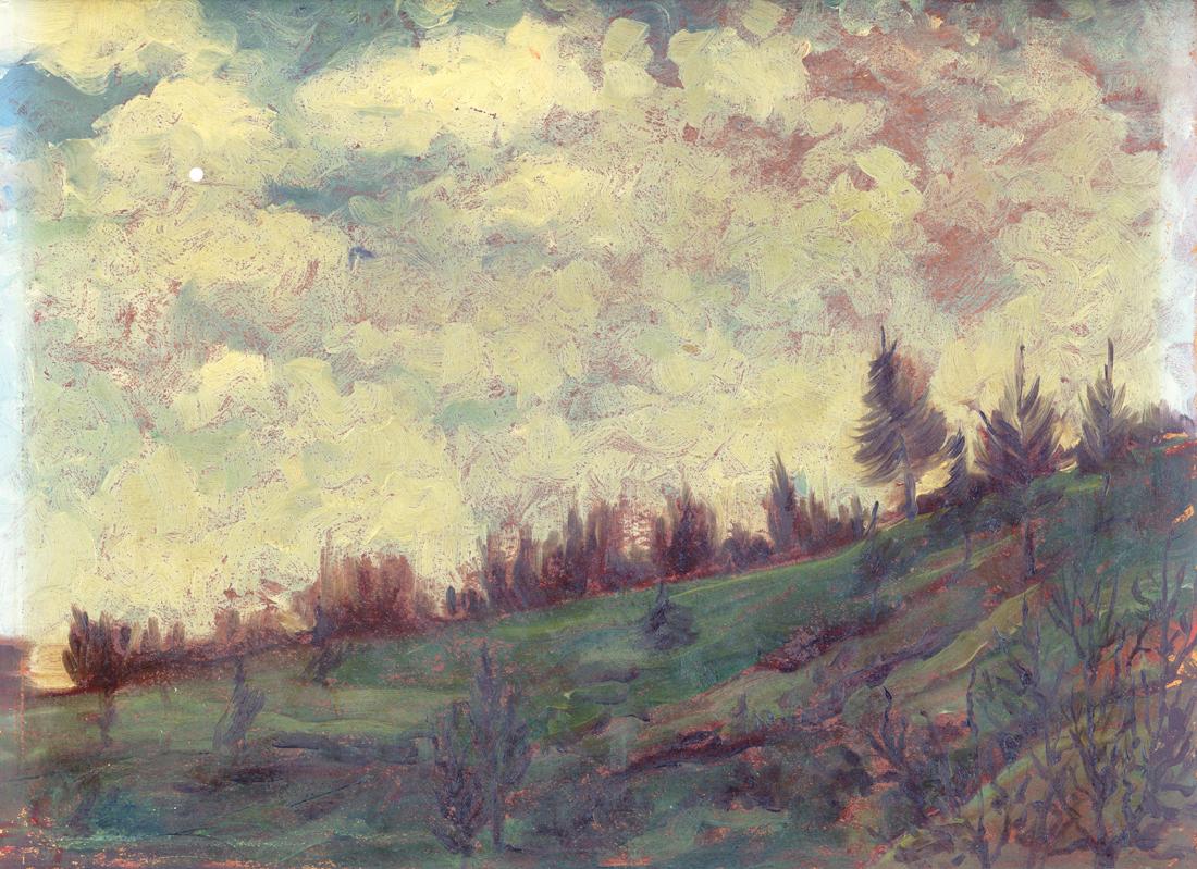 Egon Schiele Landscapes - Alps landscape - Paesaggi dell'Anima