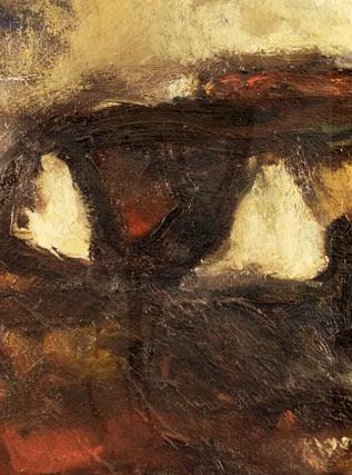 Nolde Stormy landscape - Self-Portrait, 1907