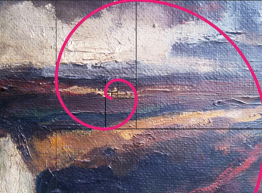 Emil Nolde Stormy landscape - Golden ratio