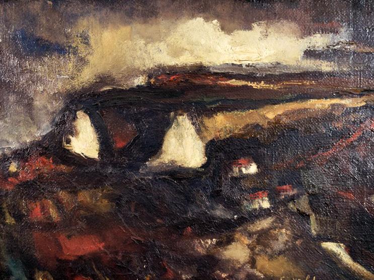 Emil Nolde - Stormy landscape