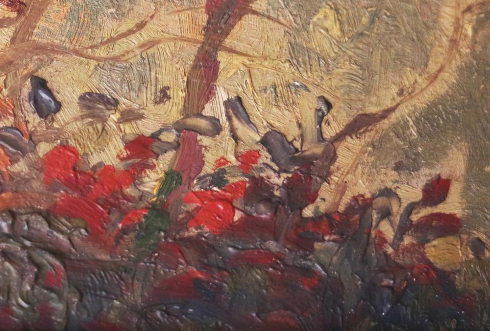 Detail, Van Gogh, palette - wild roses, Lanscape Provence