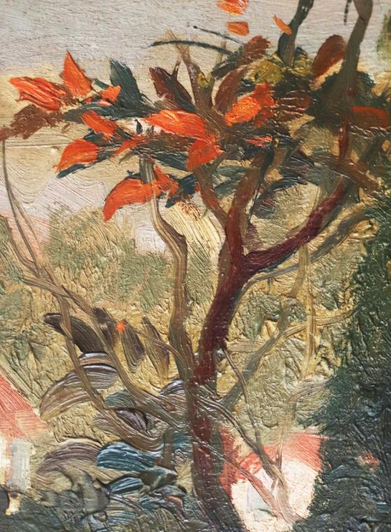Van Gogh, branches, Landscape Provence - Detail
