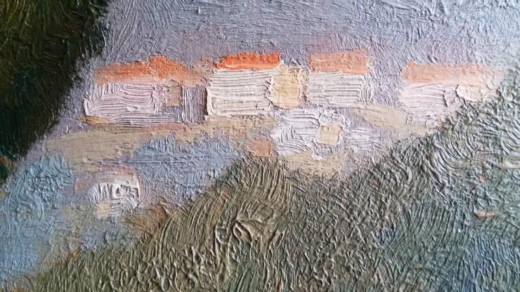 Van Gogh detail hauses - Landscape Provenc